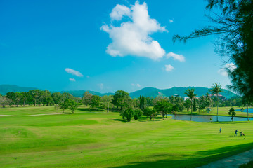 Golf course view point