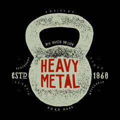 heavy metal kettlebell rock music print