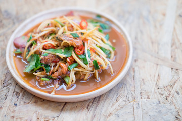 Spicy Blood Cockle with Thai salad