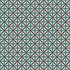 Blue colors seamless pattern with stylized repeating stars. Simple geometric ornament. Modern stylish texture.