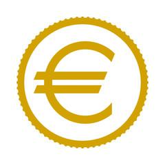 the Euro coin. icon. vector