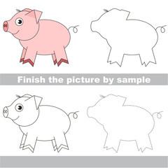 Drawing worksheet for children.