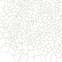 Geometric black and white ornament generated by random polygons