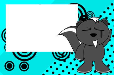 funny skunk emotion cartoon background in vector format