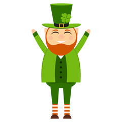Cartoon leprechaun on St. patrick's day