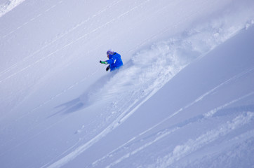 freeride en poudreuse