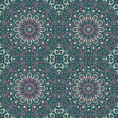 Abstract floral geometric oriental background.