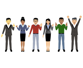 Group of working people, Business men and women in flat style, people characters