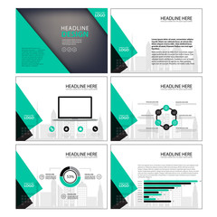 Multipurpose template for presentation slides with graphs and charts. Perfect for your business report or personal use