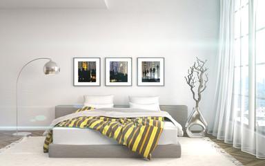 Bedroom interior. 3d illustrationb