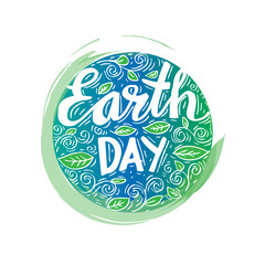 Earth Day poster. Vector illustration with the Earth day.