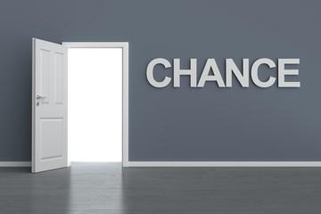 Zimmerwand mit Zimmertür Chance