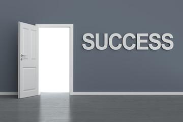 Zimmerwand mit Zimmertür Success
