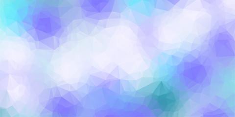 White ligh blue low poly