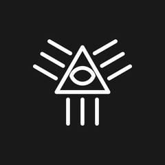 all seeing eye icon.