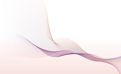 カラフルなラインアート 波線