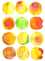 Watercolor round