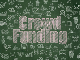 Finance concept: Crowd Funding on School board background