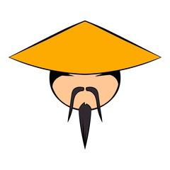 Chinese man icon cartoon