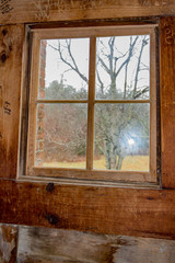 Looking thru the Wooden Window