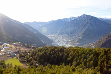 view of Andorra from the high of a mountain