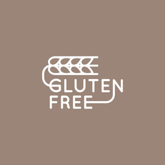 Isolated Vector Style Illustration Logo Set Badge Ingredient Warning Label Icon Gluten Wheat Free Organic Product Sticker