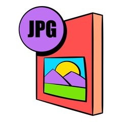 JPG file icon cartoon
