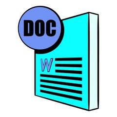 DOC file icon cartoon