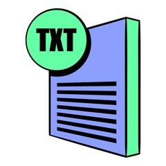 TXT file icon cartoon