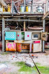 Dans l'usine de textile abandonnée