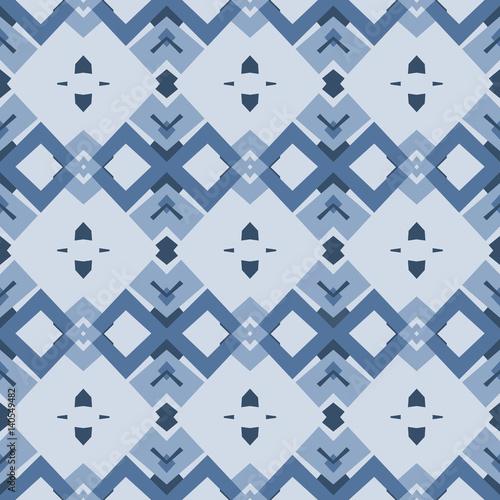 Sfondo Vettoriale Con Motivo Geometrico Blu Stock Image And Royalty