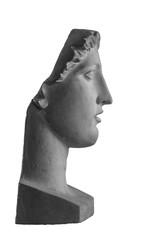 White plaster bust sculpture portrait