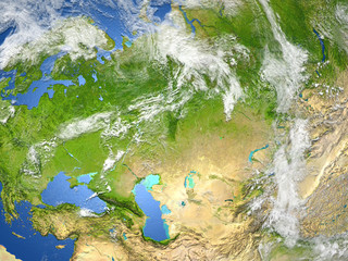 Western and central Asia on planet Earth