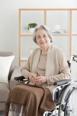 Portrait of Senior Woman on Wheelchair