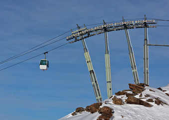 Chairlift in Les Deux Alps -  France