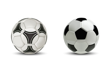 Realistic soccer ball or football ball. Isolated on white background.