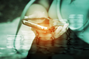 online and mobile banking concept
