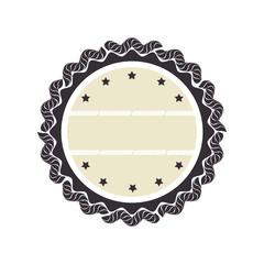 circle seal stamp frame vector illustration design
