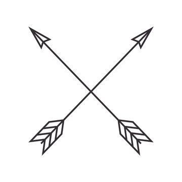 arrows crossed frame icon vector illustration design