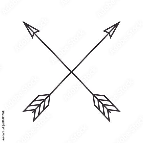 Classroom Design Arrow Or X ~ Quot arrows crossed frame icon vector illustration design