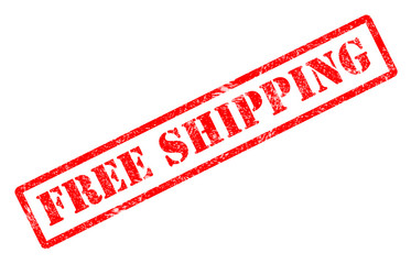 free shipping stamp on white background. free shipping stamp sign.