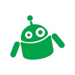 robot logo vector.