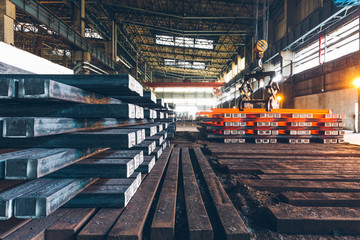 interior view of a steel factory,steel industry in city of China. Wall mural