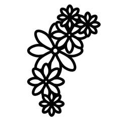 cute flowers decoration icon vector illustration design