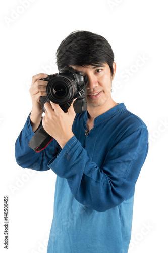Asian camera poses
