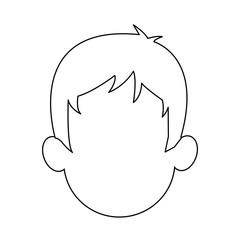 faceless head of man cartoon icon image vector illustration design
