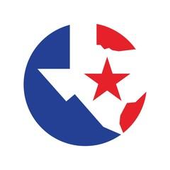 texas logo vector. lone star of texas logo vector.