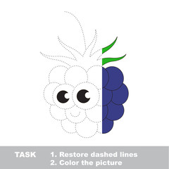 Blackberry to be colored. Vector trace game.