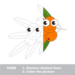 Buck thorn branch to be colored. Vector trace game.