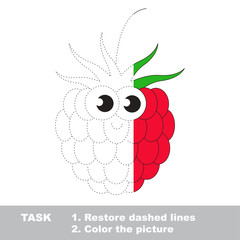 Raspberry to be colored. Vector trace game.